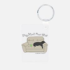 Black Lab - Play Hard Keychains