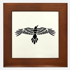 Cute Raven Framed Tile
