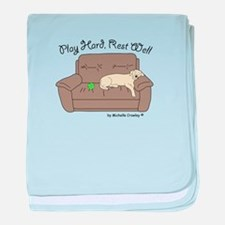 Yellow Lab - Play Hard baby blanket