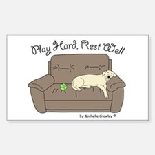 Yellow Lab - Play Hard Decal