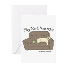 Yellow Lab - Play Hard Greeting Card