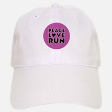 Peace Love Run Baseball Baseball Cap