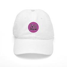 Peace Love Run Baseball Cap