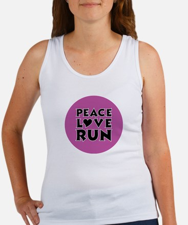 Peace Love Run Women's Tank Top
