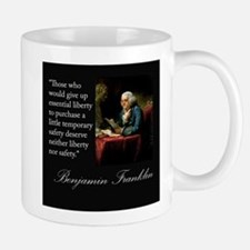 Ben Franklin Quote Portrait Mug