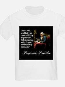 Ben Franklin Quote Portrait T-Shirt