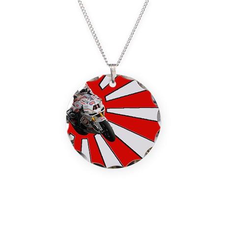 Nori Haga Rising Sun Necklace Circle Charm