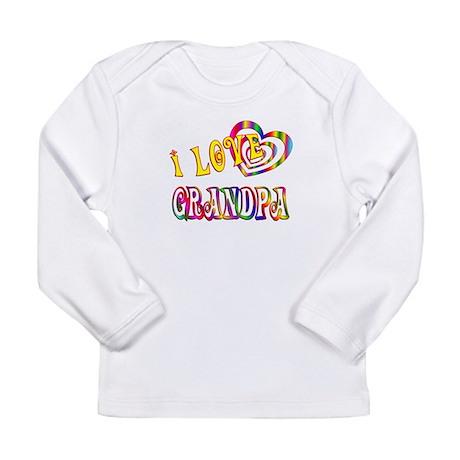 I Love Grandpa Long Sleeve Infant T-Shirt