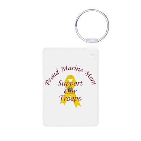 Support Our Troops Marine Mom (Yellow Ribbon) Alum