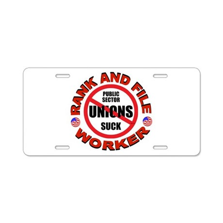RIGHT TO WORK Aluminum License Plate