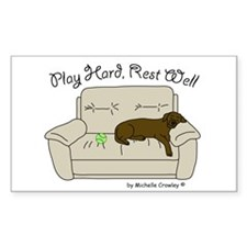 Chocolate Lab - Play Hard Decal