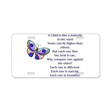 Cute Autistic Aluminum License Plate