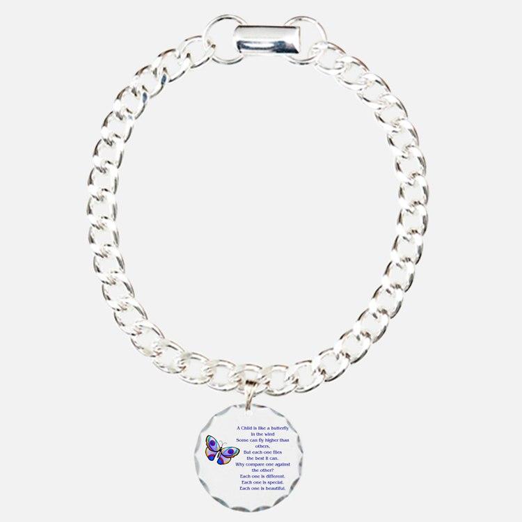 Cute Education Charm Bracelet, One Charm