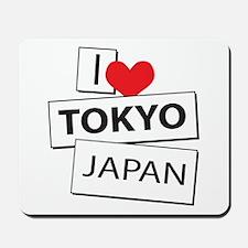 I Love Tokyo Japan Mousepad