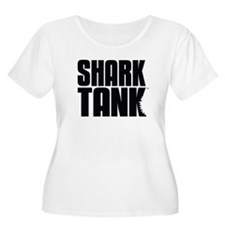 Shark Tank Stack Logo Women's Plus Size Scoop Neck