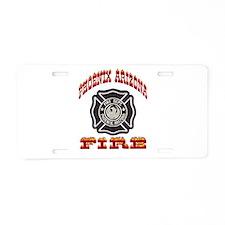 Phoenix Fire Department Aluminum License Plate