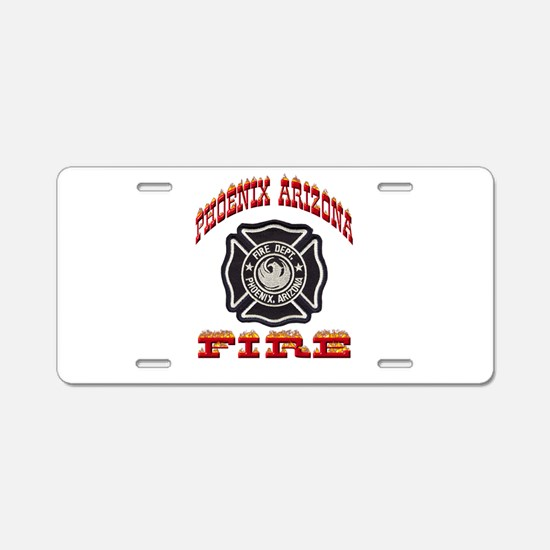 Phoenix Fire Department Aluminum License Plate