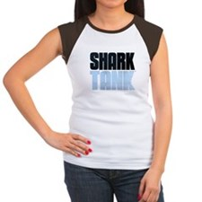 Shark Tank Blue Logo Women's Cap Sleeve T-Shirt