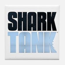 Shark Tank Blue Logo Tile Coaster