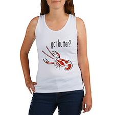 "Cute ""Got Butter"" Lobster Women's Tank T"