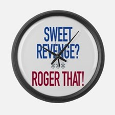 Roger That! Large Wall Clock