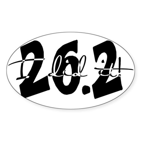 26.2 I Did It! by Leah Norem Sticker (Oval)