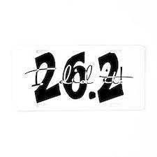 26.2 I Did It! by Leah Norem Aluminum License Plat