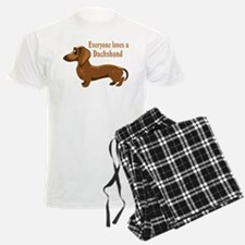 Everyone Loves A Dachshund Pajamas