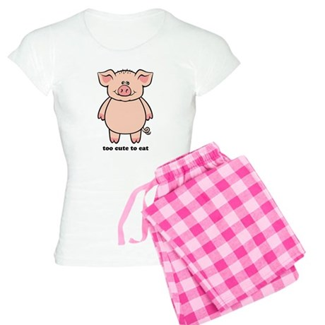Too Cute To Eat Pig Women's Light Pajamas
