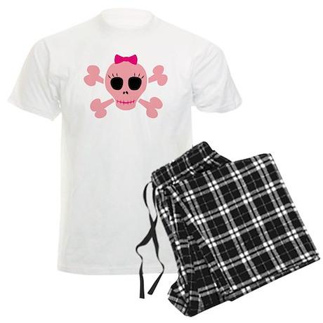 Funny Pink Skull Men's Light Pajamas