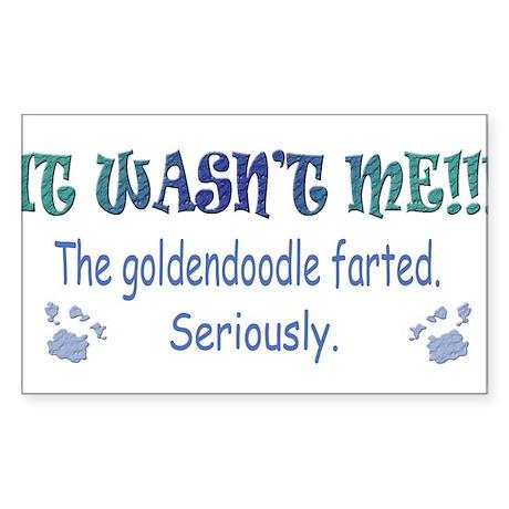 goldendoodle Sticker (Rectangle)
