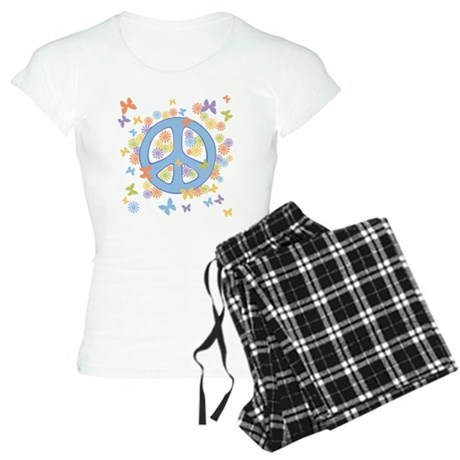 Peace & Butterflies Women's Light Pajamas