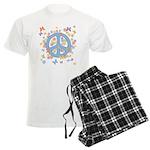 Peace & Butterflies Men's Light Pajamas