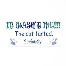 cat Aluminum License Plate