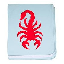 Unique Red scorpion baby blanket