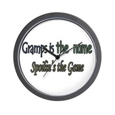 GRAMPS IS THE NAME Wall Clock