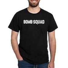 "SharpTee's ""Bomb Squad"" Black T-Shirt"