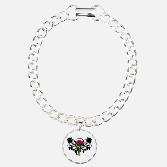 Rose tatoo Charm Bracelet, One Charm