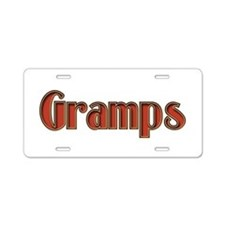 GRAMPS IS THE NAME, SPOILINS Aluminum License Plat