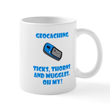 Geocaching Ticks Thorns Muggl Mug