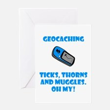 Geocaching Ticks Thorns Muggl Greeting Card