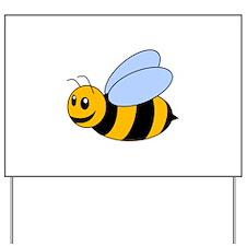 Cartoon Bee Yard Sign