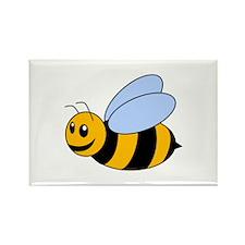 Cartoon Bee Rectangle Magnet