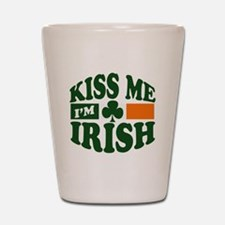 Kiss Me I'm Irish Shot Glass