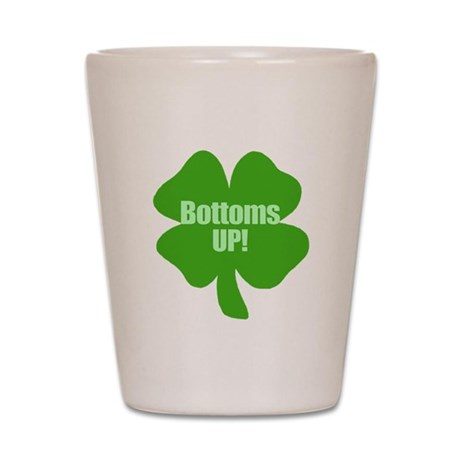 Bottoms Up Tshirts & Gifts Shot Glass