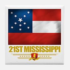 21st Mississippi Infantry Tile Coaster