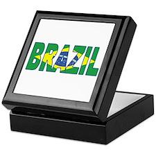 Brazil Soccer Flag Keepsake Box