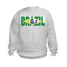 Brazil Soccer Flag  Sweatshirt