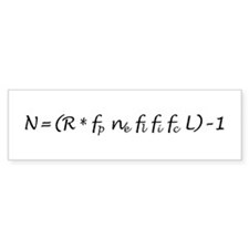 Drake Equation -1 Bumper Sticker