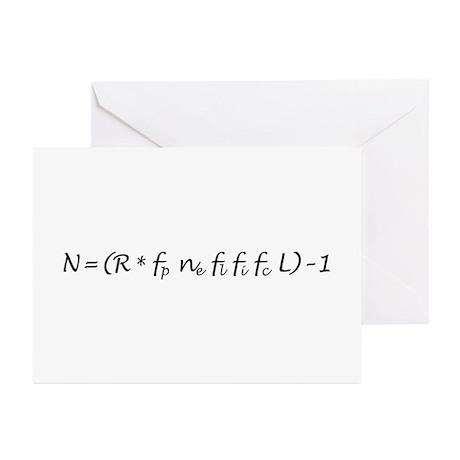Drake Equation -1 Greeting Cards (Pk of 10)